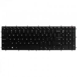 Tastatura laptop, Dell, P65F, fara rama, US, iluminata