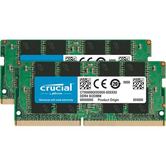 Memorie laptop Crucial 32GB, DDR4, 2666MHz, CL19, 1.2v, Dual Ranked x8, Dual Channel Kit CT2K16G4SFD8266