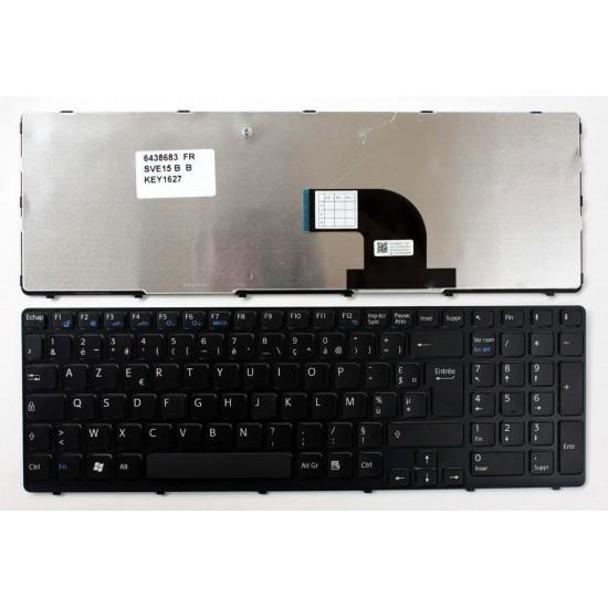 Tastatura Laptop Sony Vaio SVE15 cu rama roz