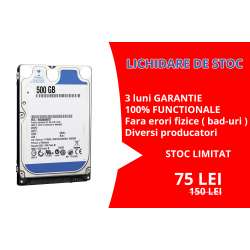 Hard Disk Laptop 2.5 inch 500GB 5400 RPM 8MB SATA 2 Diversi Producatori