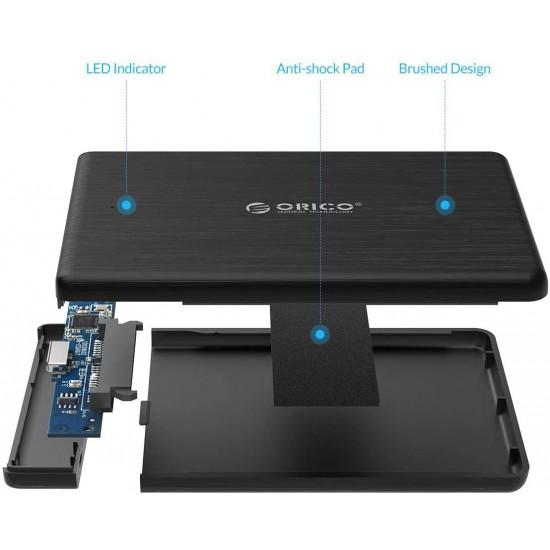 "Rack Orico 2189U3, compatibil HDD/SSD 2.5"" SATA, USB 3.0, Negru Accesorii Laptop"