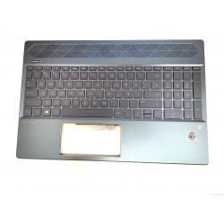 Carcasa superioara cu tastatura iluminata palmrest Laptop, HP, Pavilion 15-CS, 15-CW, L49391-271