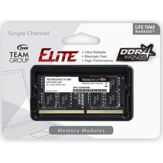 Memorie RAM Team Group DDR4 8GB 2400MHz CL16 SODIMM 1.2V ted48g2400c16-sbk Memorie RAM laptop