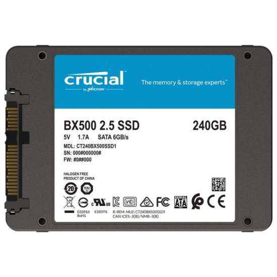Solid-State Drive (SSD) Crucial® BX500, 240GB, 3D NAND, SATA 2.5 Hard disk-uri noi