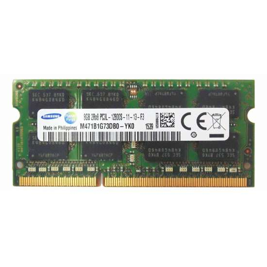 Memorie laptop Samsung sodimm 8GB DDR3L PC3L-12800s 1600Mhz 1.35V, M471B1G73QH0-YK0 Memorie RAM sh