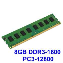 Memorie ram 8GB DDR3 PC3-12800U PC, Desktop, diversi producatori, SH, 6 luni garantie