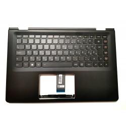 Carcasa superioara cu tastatura palmrest Laptop, Lenovo, Yoga 500-14, 500-14IBD, 500-14IHW, 500-14ISK, layout HU