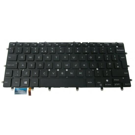 Tastatura Laptop, Dell, Inspiron 14 7460, 7466, 7467, 7472, cu iluminare, layout UK