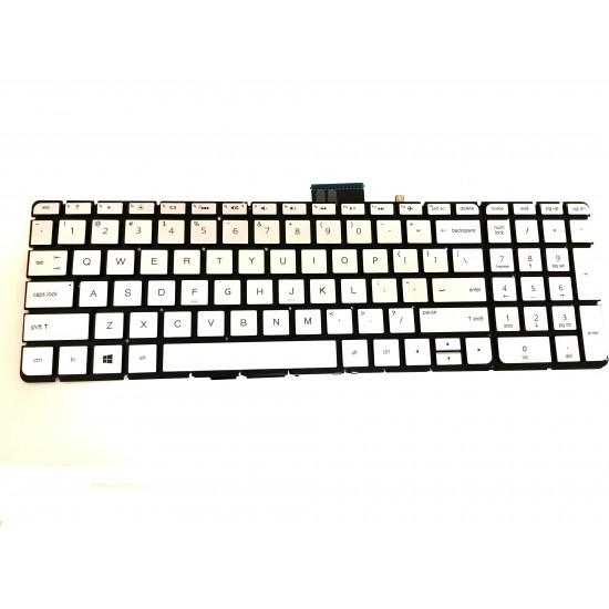 Tastatura Laptop, HP, Pavilion 250 G6, 256, 17-G, 17AB, M6-AR, M7-N, iluminata, layout US, argintie