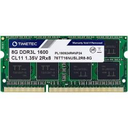 Memorie Laptop, Timetec Hynix, IC 8GB PC3L-12800 DDR3L, Unbuffered, SODIMM 2Rx8 512x8 1.35V, CL11, Dual Rank 204 PIN