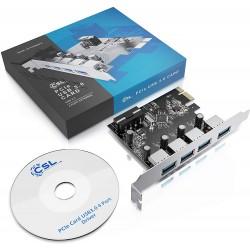 Adaptor placa PCI-Express (PCI-E) 4 x USB 3.0