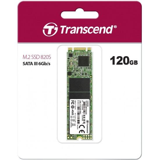 SSD Transcend 820S, 120GB, M.2 2280, SATA3, G6Gb/s, TLC, R/W 550/500 MB/s