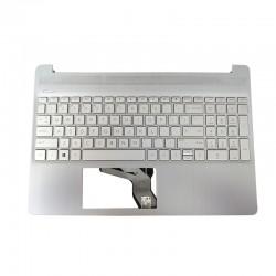 Carcasa superioara cu tastatura palmrest Laptop, HP, 15-DY, 15T-DY, 15S-EQ, 15-EF, TPN-Q222, L63578-031, L60341-001, EA0P500601, argintie