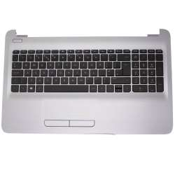 Carcasa superioara cu tastatura palmrest Laptop, HP, 15-AC, 15-AF, 15-AY, 15-BA, 15-BN, argintie