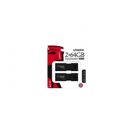 Kingston 2 x 64GB USB 3.0 DataTraveler 100 G3