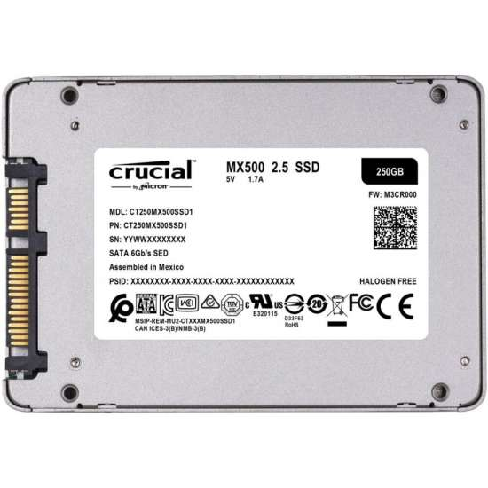 "Solid-State Drive (SSD) CRUCIAL MX500, 2TB, 2.5"" Hard disk-uri noi"