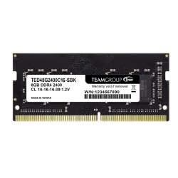 Memorie RAM Team Group DDR4 8GB 2400MHz CL16 SODIMM 1.2V ted48g2400c16-sbk
